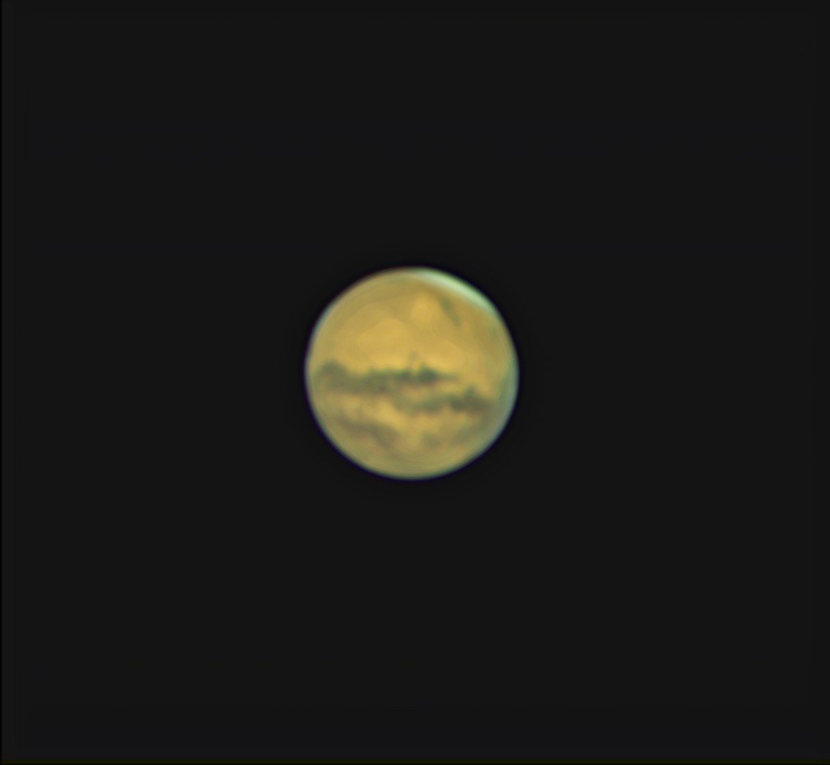 Mars Through Telescope...