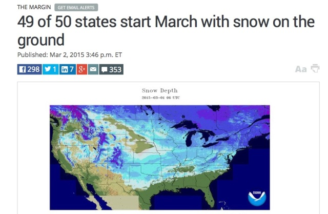 49 of 50 states have snow